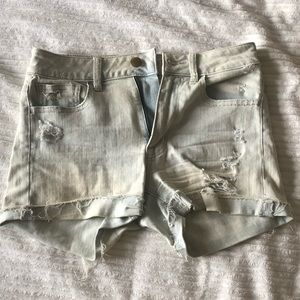 American Eagle High Rise Faded Jean Shorts